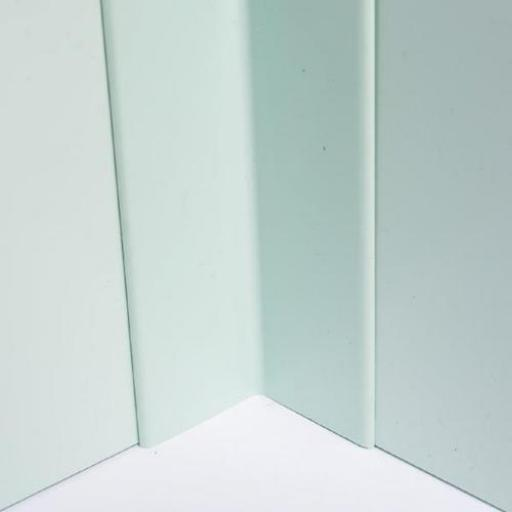 Hygienic Wall Cladding Internal Angle Pastel Green