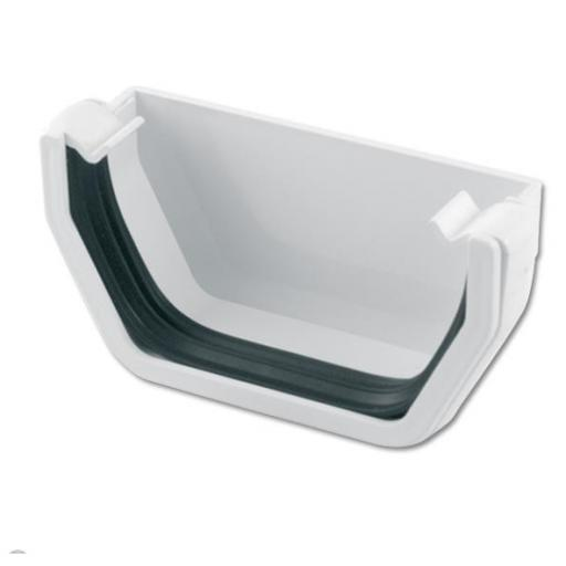 White Square External Gutter Stop End