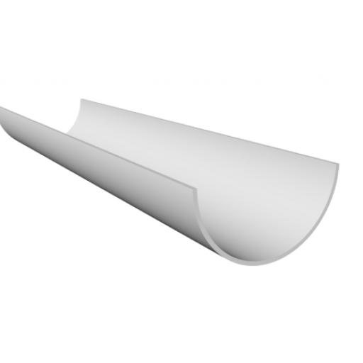 White Round Gutter 4mt Length 112mm