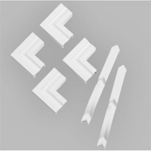 Torus 6 Piece White Satin Architrave Trim Kit