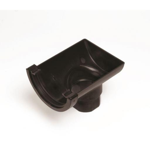 Black Round Gutter Stop End Outlet