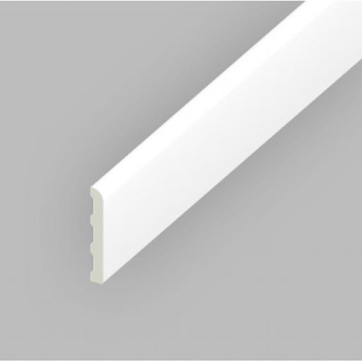 White PVC Ridge Back Architrave 95mm