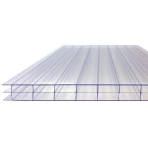 16mm Clear Triple Wall Polycarbonate Roofing Sheets