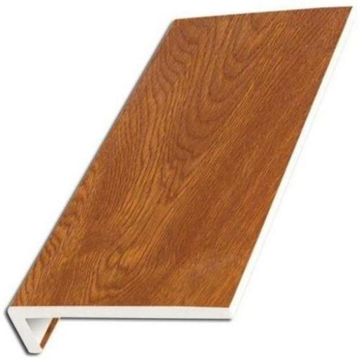 Golden Oak UPVC Internal Window Sill Cover Square Edge