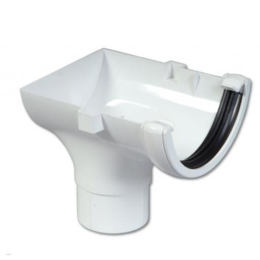 White Round Gutter Stop End Outlet