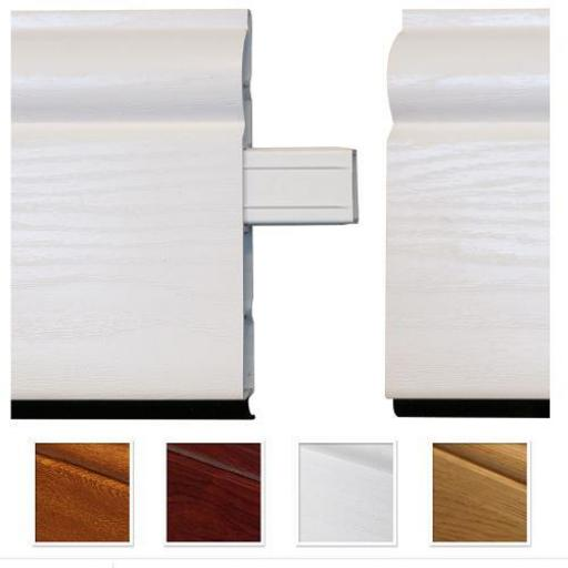 150mm White UPVC Skirting Inline Joint - Chamfered (10 Pack)
