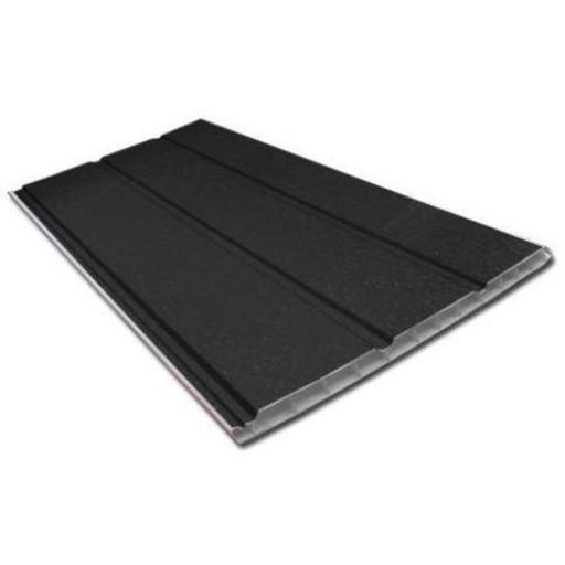 Black Ash 300mm Hollow Soffit Board, Tongue and Groove