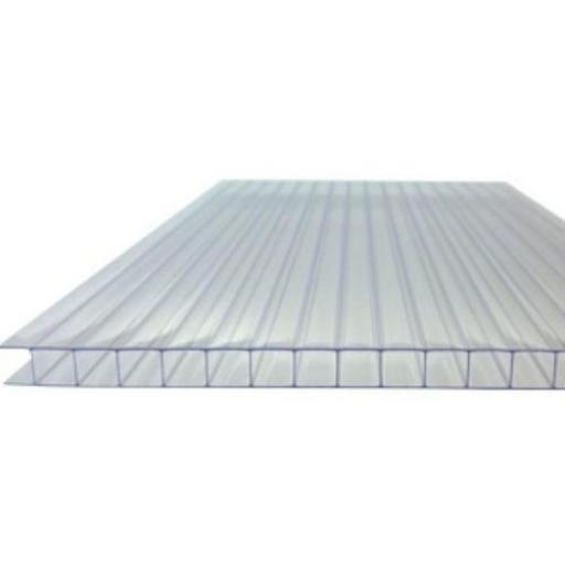 10mm Clear Twin Wall Polycarbonate Sheet