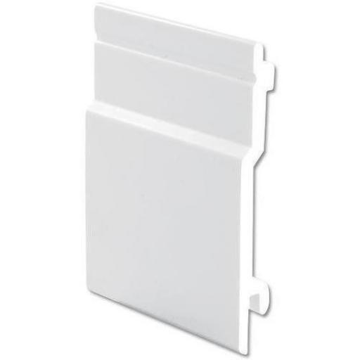100mm External Open V Cladding White uPVC