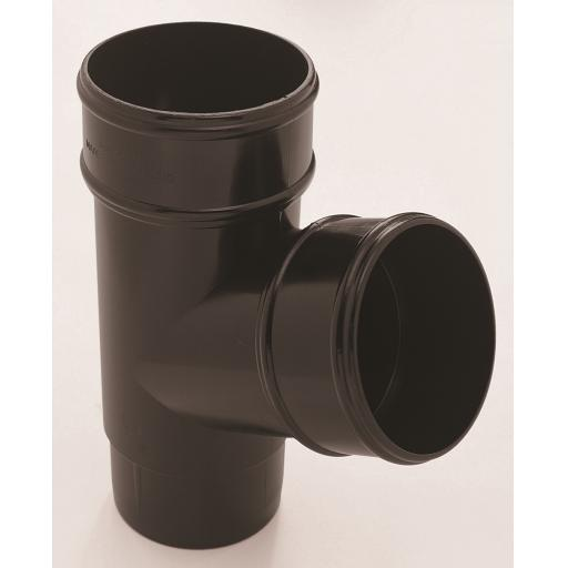 Black Round Down Pipe 112 Degree Branch