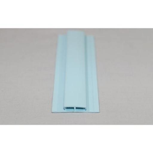 Hygienic Wall Cladding H Section Joint Strip Pastel Blue