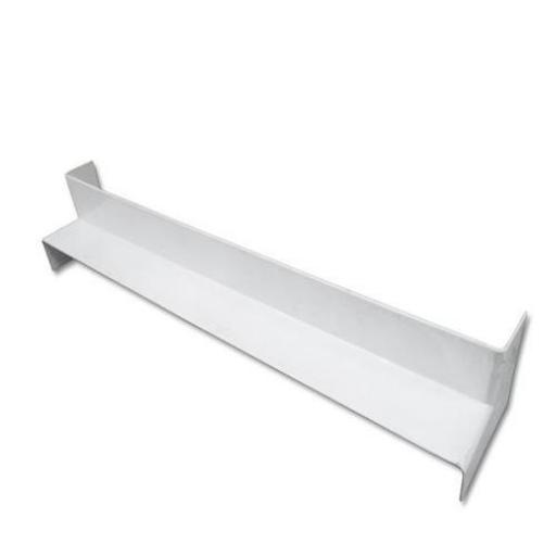 500mm White Internal Fascia Corner - Double Ended