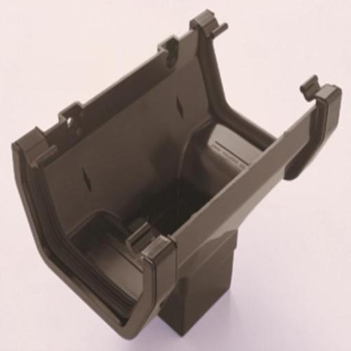 Brown Square Gutter Running Outlet