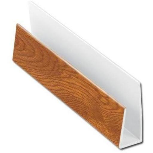 Golden Oak Soffit Board Starter Trim / J Trim 5mt
