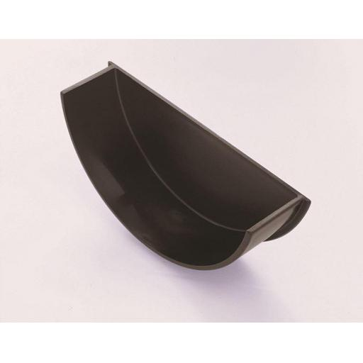 Black Round Gutter Internal Stop End