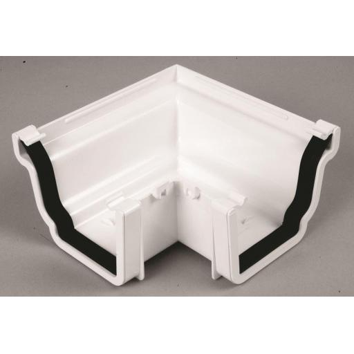 White Ogee Gutter External 90 Degree Angle