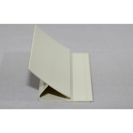 Hygienic Wall Cladding Internal Corner Joint Pastel Cream
