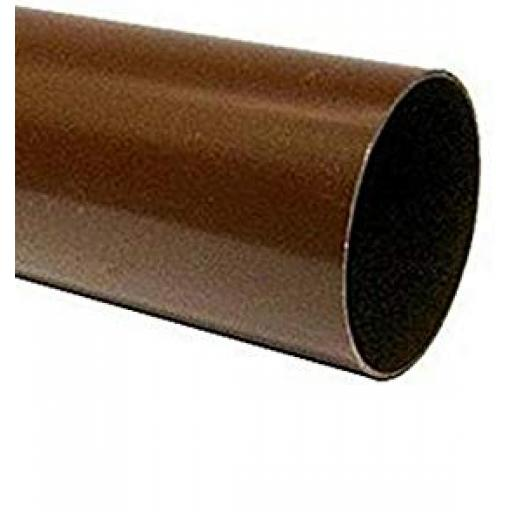 Brown Round Down Pipe 5.5mt Length 68mm