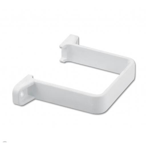 White Square Down Pipe Clip Flush To Wall