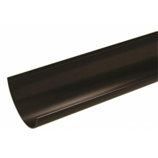 Black Round Gutter 4mt Length 112mm