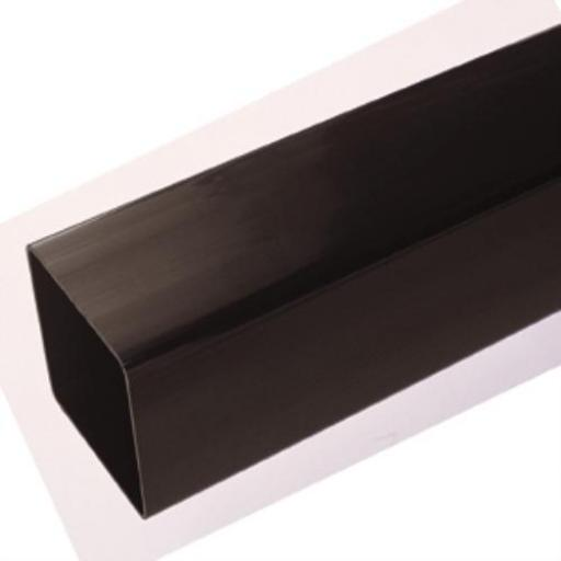 Black Square Down Pipe 5.5mt Length 65mm