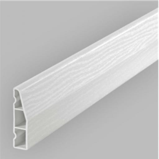 White Satin 60mm Chamfered Door Architrave 5.3m