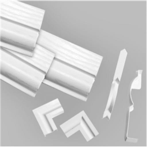 60mm White Satin Torus DIY Door Kit