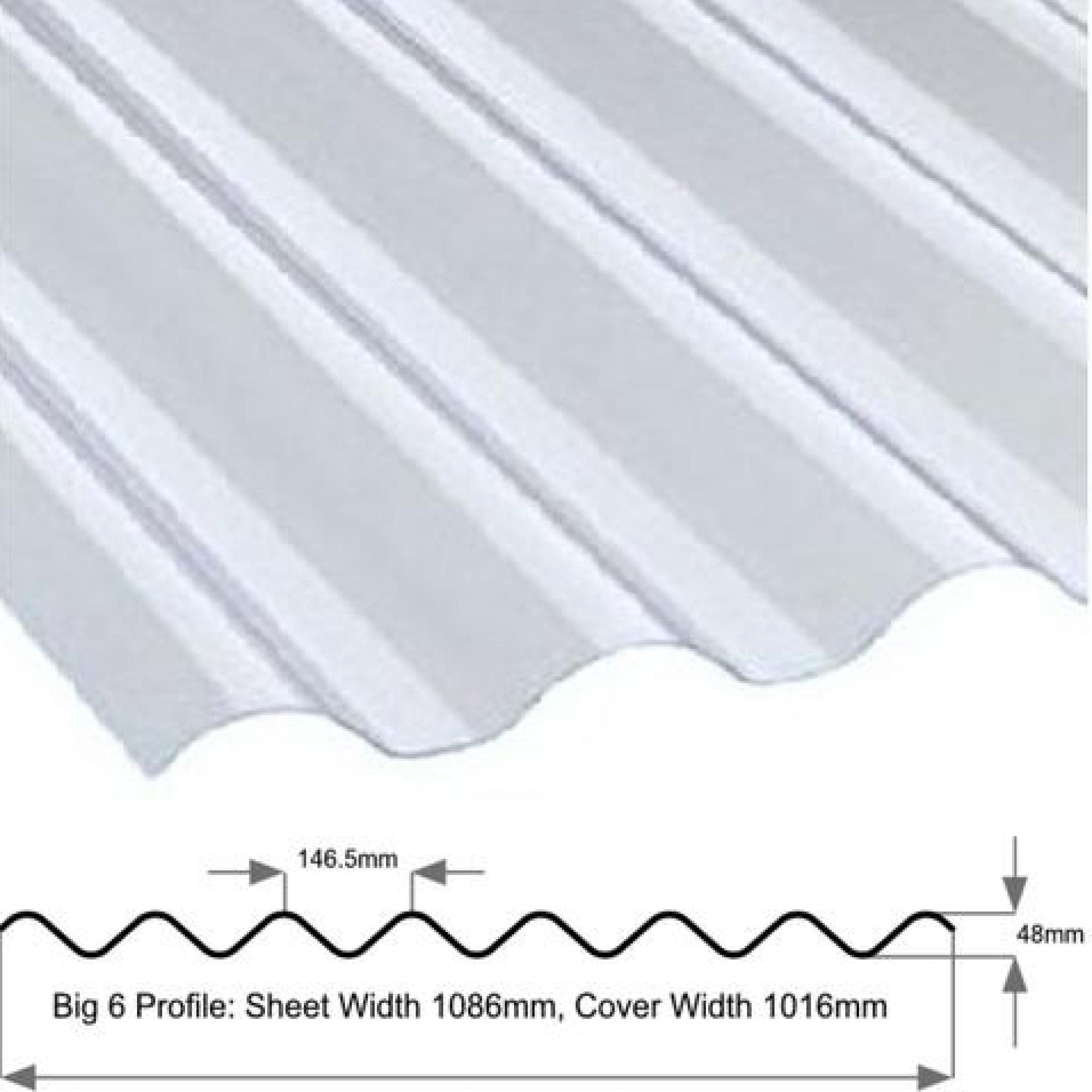 Big 6 Corrugated Pvc Roof Sheet Clear 6 Profile