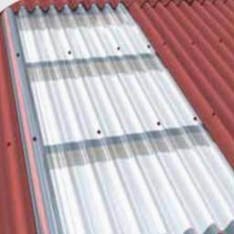 Transparent Corrugated Roofing Sheet - Black Bitumen Corrugation