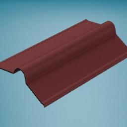 Red Bitumen Corrugated Roofing Ridge 850mm
