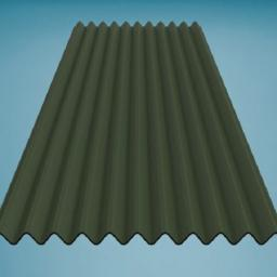 Green Bitumen Corrugated Roofing Sheet 950mm x 2000mm