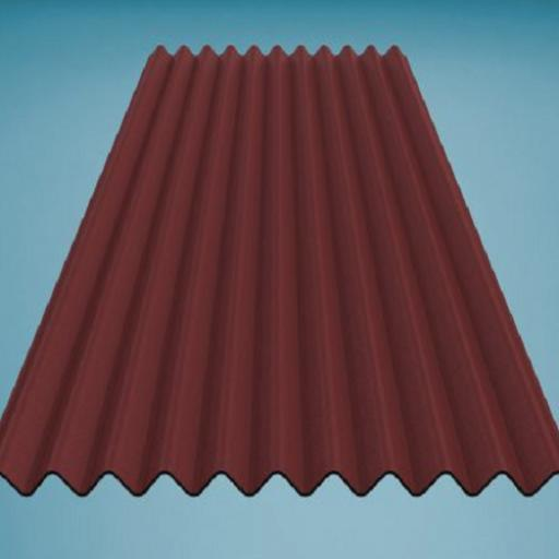 Red Bitumen Corrugated Roofing Sheet 950mm x 2000mm