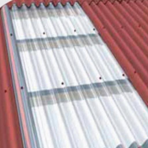 Transparent Corrugated Roofing Sheet - Red Bitumen Corrugation