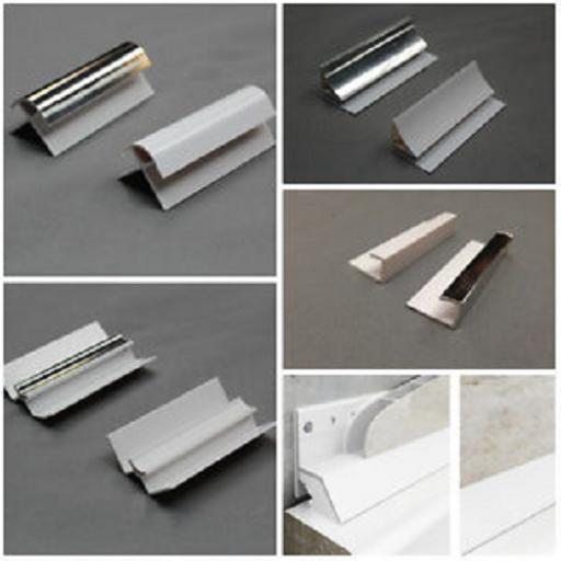 Aqua 1000 Chrome Bathroom Wall Cladding Trims & Adhesive