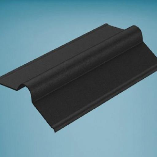 Black Bitumen Corrugated Roofing Ridge 850mm
