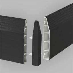 150mm Anthracite UPVC Skirting External Corner - Chamfered (2 Pack)