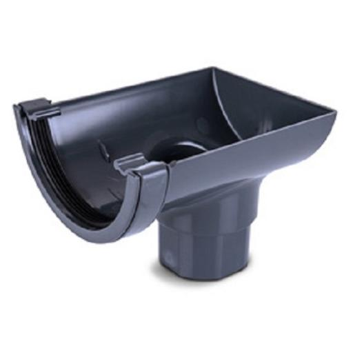 Anthracite Round Gutter Stop End Outlet