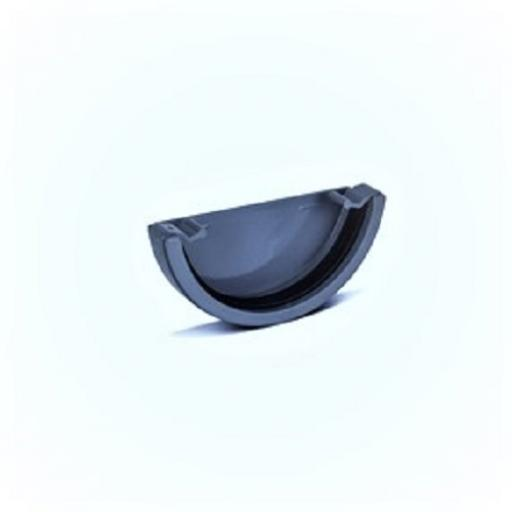 Anthracite Round External Gutter Stop End