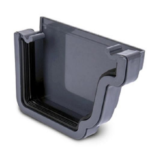 Anthracite Ogee Gutter Right Hand External Stop End