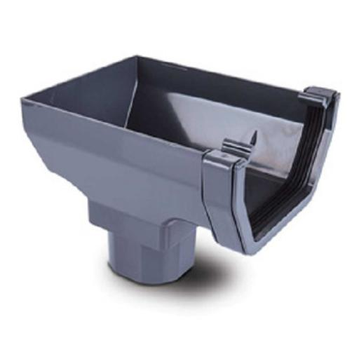 Anthracite Square Gutter Stop End Outlet