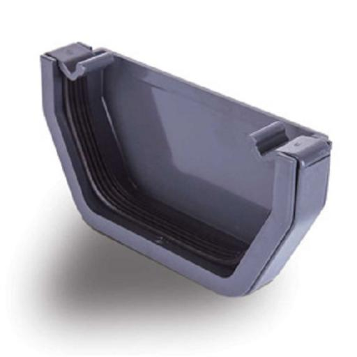 Anthracite Square External Gutter Stop End