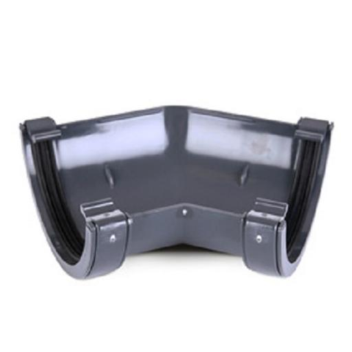 Anthracite Round Gutter 135 Degree Angle
