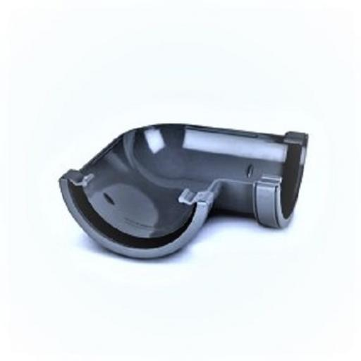 Anthracite Round Gutter 90 Degree Angle