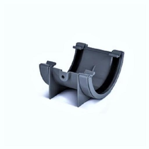 Anthracite Round Gutter Union Joint