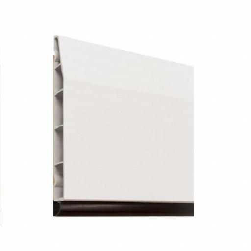 150mm White UPVC Skirting Board - 5m Chamfered