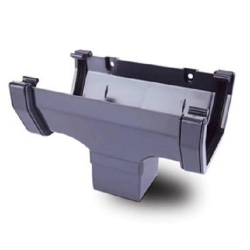 Anthracite Square Gutter Running Outlet