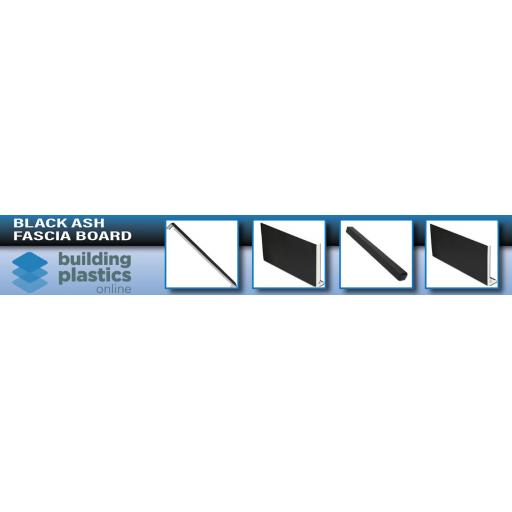 Black Ash UPVC Fascia Board