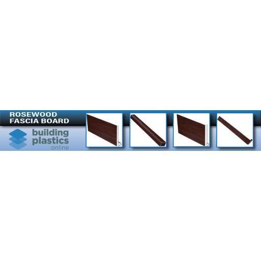 Rosewood UPVC Fascia Board