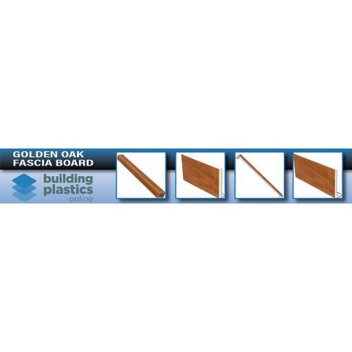 Golden Oak UPVC Fascia Board