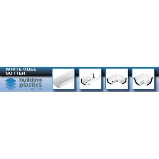 White Ogee Gutter & Fittings
